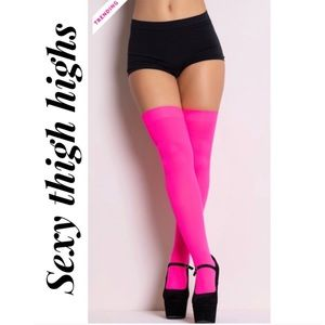 Hot pink thigh highs